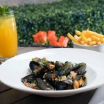 Mussels and Bacon