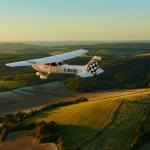 The Goodwood Cessna flying over the South Downs