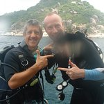 Adam and me in front of Koh Tao