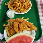 Chicken Finger and Clam Strip meals