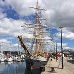 Tall ship Kaskelot at Plymouth Barbican