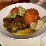 Curry chicken and jerk chicken