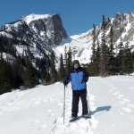 We hiked up to Emerald Lake - I couldn't have asked for a better snowshoeing experience. Thanks