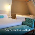 Suite familiar, aire acondicionado, wifi, TV, frigobar, caja seguridad, secador de pelo, ameniti
