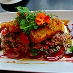 jewelled quinoa with halloumi (and delicious garnish)