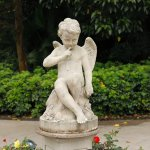 Decorative garden statue.