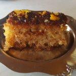 complimentary orange flavored dessert