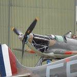 The Hurricane engine test outside the hangar.