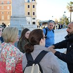 Our Guide, Ivano, at the Spanish Steps, sharing all the history.