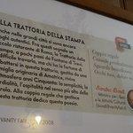 Photo de Trattoria della Stampa