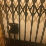 inside elevator door