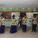 Dancing performance by talented locals