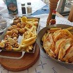 Calamari 3 ways and prince prawns