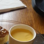 Delicious Apple n Caramel pie n custard