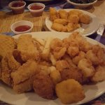 Fried shrimp and whitefish dinner