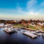 Tarpon waterfront aerial view