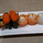 Colourful sushi options