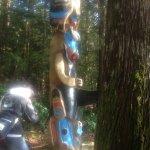 Beautiful totem pole