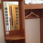wardrobe & hairdryer with mirror