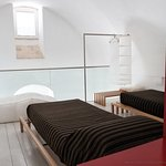 Loft area with 2 extra single beds