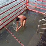 Accessing the Ganga bath from the Hotel