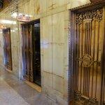 Beautiful lifts and marble walls