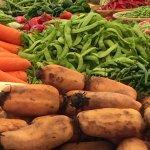A range of vegetables at the market