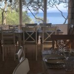 outdoor restaurant with view on Solta island