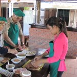 we are learing to cook Vietnami food
