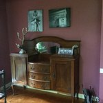The decor is an eclectic mix of antique, upcycled, new and vintage pieces.