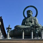 Closer look at Takaoka Daibutsu Buddha