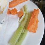 Stale soft vegetable crudites