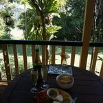 Chees Platter and Champagne on the verandah