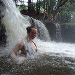 a hot waterfall!