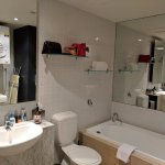 bathroom - apartment 603 - nice tub, great shower, good washing machine and dryer, lots of space