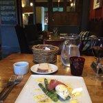 Special: asparagus, prosciutto, poached egg, hollandaise