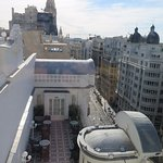 the view towards gran via and the terrace