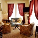 The Parlor Suite has just been redecorated. Here's a peek at the sitting room.