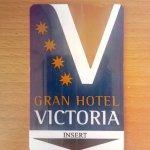 tarjeta Gran Hotel Victoria