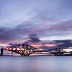 Edinburgh view - the Forth Bridges