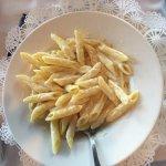 Penne Alfredo from kids menu