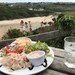 Crab Salad & Crab Sandwich with magnificent view 💕