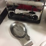 Metal tongs at the toaster? Really!!!?????