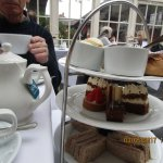 Afternoon tea in the conservatory