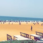 view of calangute beach from the hotel.