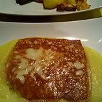 Porceddu con patate e pecorino grigliato su polentina