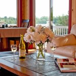 Breakfast is served in our sunroom overlooking the lake.  Enjoy evening wine in comfort.