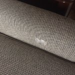 gross stain on the sleeper sofa that my son was supposed to sleep on