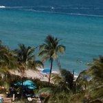 vista desde el cuarto de hotel de la playa