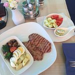 Veal Steak + various side dishes ...